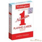 Waddingtons francia kártya - piros