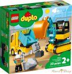 LEGO Duplo Teherautó és lánctalpas exkavátor 10931