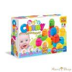 Clementoni Clemmy Baby 12 db-os puha építőkockák