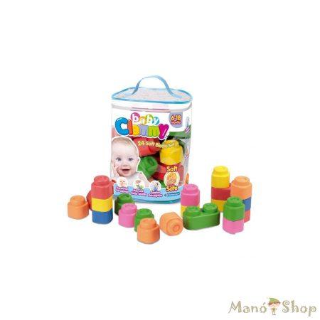 Clementoni Clemmy Baby - Puha építőkockák 24 db-os