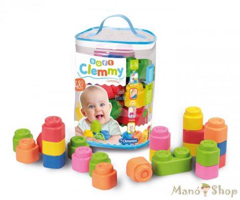 Clemmy Baby 48 db-os puha építőkocka készlet