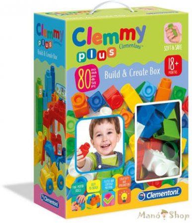 Clementoni Clemmy Plus Fiús puha építőkocka szett 80 db
