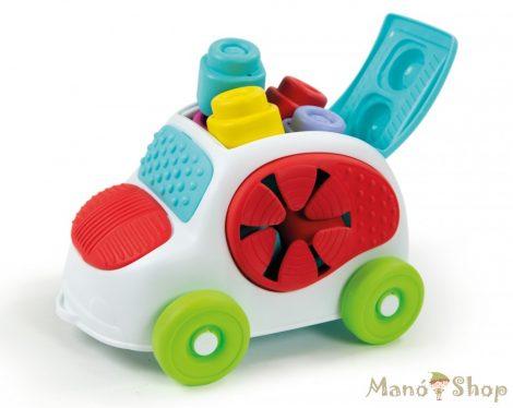 Clemmy Baby autó puha építőkockákkal