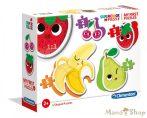 Clementoni 4 az 1-ben Bébi sziluett puzzle (2,3,4,5 db-os) - Gyümölcsök