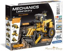 CLEMENTONI Mechanikai labor Bulldózer 10 az 1-ben építőjáték