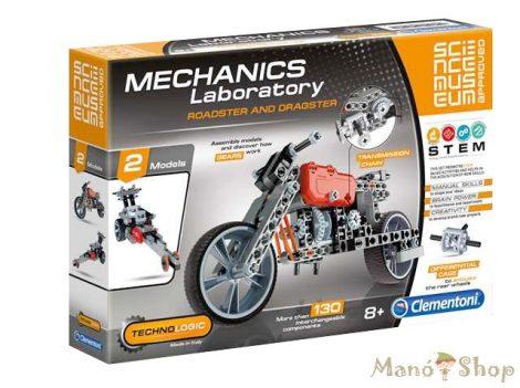 CLEMENTONI Mechanikai labor Roadster és Dragster 2 az 1-ben építőjáték