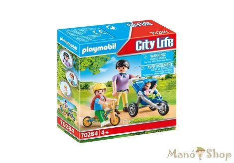 Playmobil - Anya két gyermekével 70284