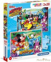 Clementoni Mickey és az autóversenyzők 2x20 db puzzle