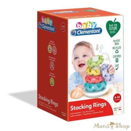 Clementoni Baby - Gyűrűpiramis építőtorony