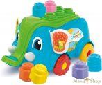 Clementoni Clemmy Soft Puha kockák 10 db-os építőjáték elefántos tartóval