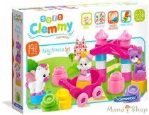 Clemmy Soft 19 db-os Hercegnő puha építőkocka - Clementoni
