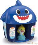 Clementoni Clemmy Baby Puha kockák - Baby Shark kék tároló