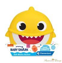 Clementoni Clemmy Baby Puha kockák - Baby Shark mini tároló