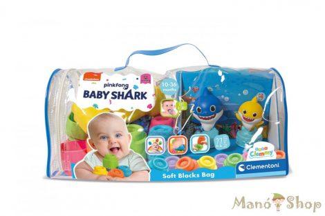 Clementoni Clemmy Baby - Baby Shark Építőkocka készlet 22db-os