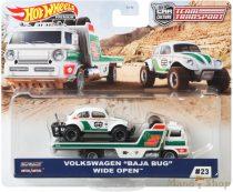 """Hot Wheels Premium Team Transport - Volkswagen """"Baja Bug"""" Wide Open szállító autó (GJT44)"""