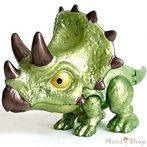 Jurassic World: Snap Squad - Triceratops fogcsattogtató dinoszaurusz mini figura