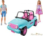 Barbie Terepjáró Barbie és Ken babával