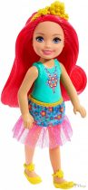 Barbie Dreamtopia - Chelsea Sprite pink hajú lány baba