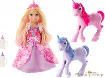 Barbie - Dreamtopia Chelsea hercegnő és unikornis csikók