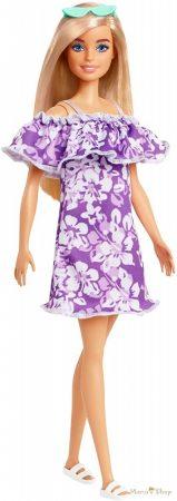 Barbie 50. évfordulós Malibu baba - Lila virágos ruhában (GRB36)