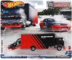 Hot Wheels Premium Team Transport - Nissan Skyline GT-R (BNR32) Sakura Sprinter szállító autó (GRK55)