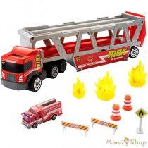 Matchbox - Tűzoltósági szállítójármű kiegészítőkkel (GWM23)