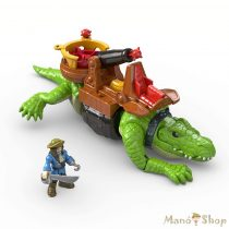 Fisher-Price Imaginext sétáló krokodil és Hook kapitány
