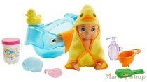 Barbie Skipper Babysitters - Fürdetőszett színváltós kisbabával