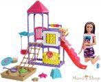 Barbie bébiszitter játszótér szett Skipper babával