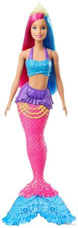 Barbie Dreamtopia Kék és pink hajú sárga tiarás sellő baba