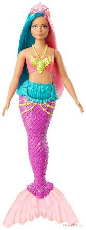 Barbie Dreamtopia Kék és pink hajú rózsaszín tiarás sellő baba