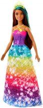 Barbie Dreamtopia: Barna-kék hajú hercegnő baba