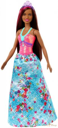 Barbie Dreamtopia Barna-pink hajú hercegnő baba