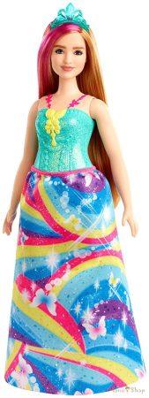 Barbie Dreamtopia Szőke-pink hajú molett hercegnő baba