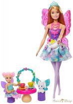 Barbie Dreamtopia Tea parti tündérbabaval és kiegészítőkkel