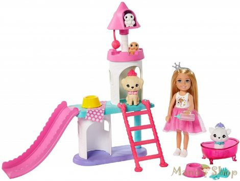 Barbie Princess Adventure - Chelsea hercegnő játékszett GML73
