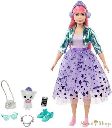 Barbie Princess Adventure Deluxe Hercegnő Daisy baba lila szettben