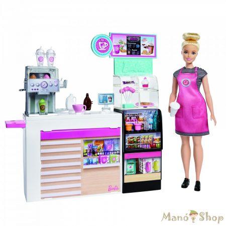 Barbie kávézó babával